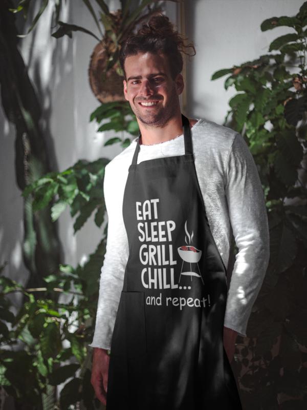 Pregača Eat, sleep, grill, chill
