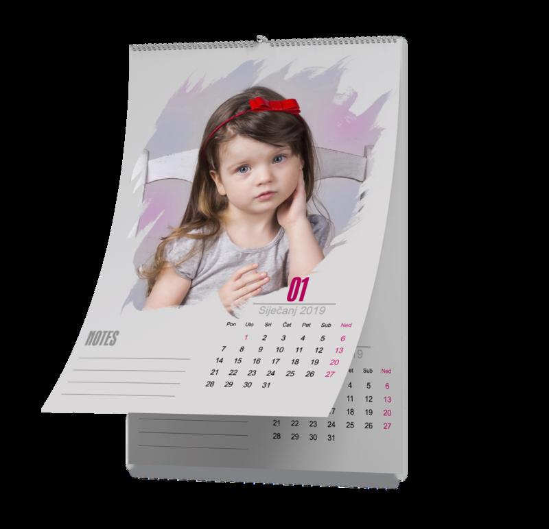 Personalizirani kalendar A3