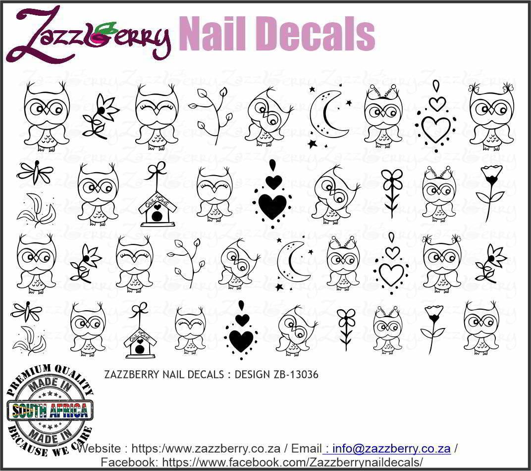 Owl Doodles (Black or White)