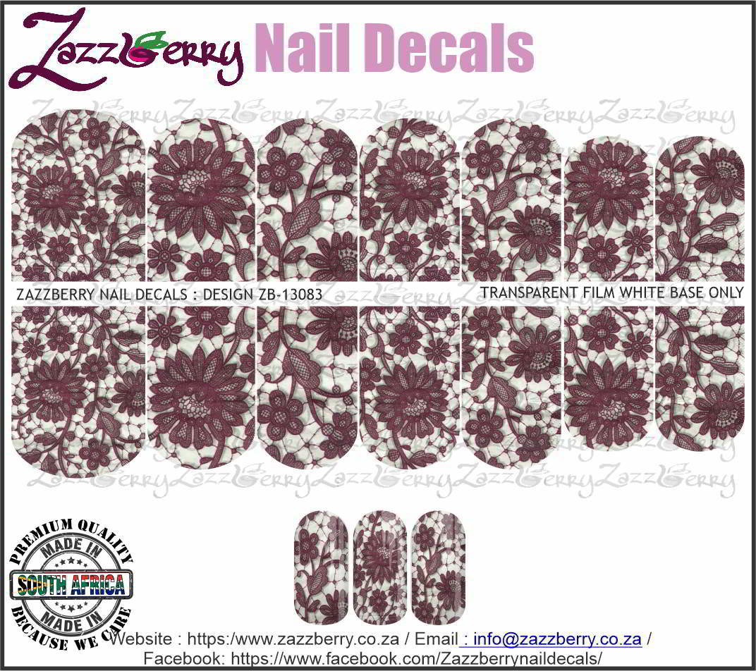 Maroon Floral Lace