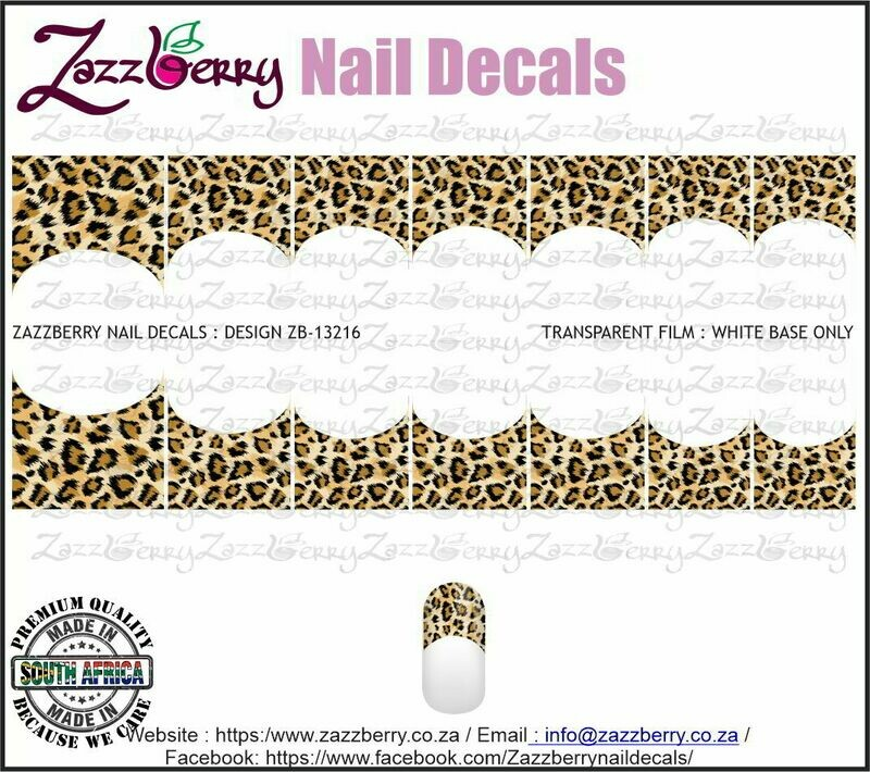 Leopard Skin French Manicure