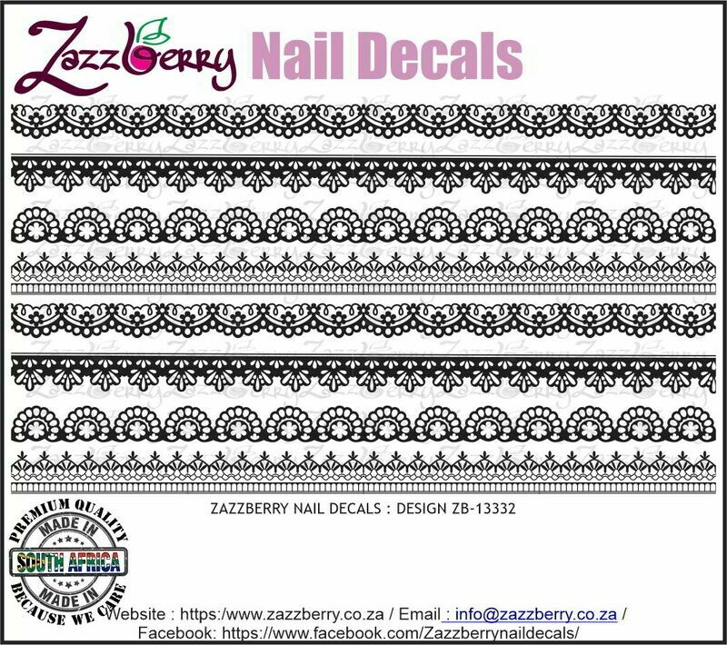 Lace Strips III (Black/White /Foil)