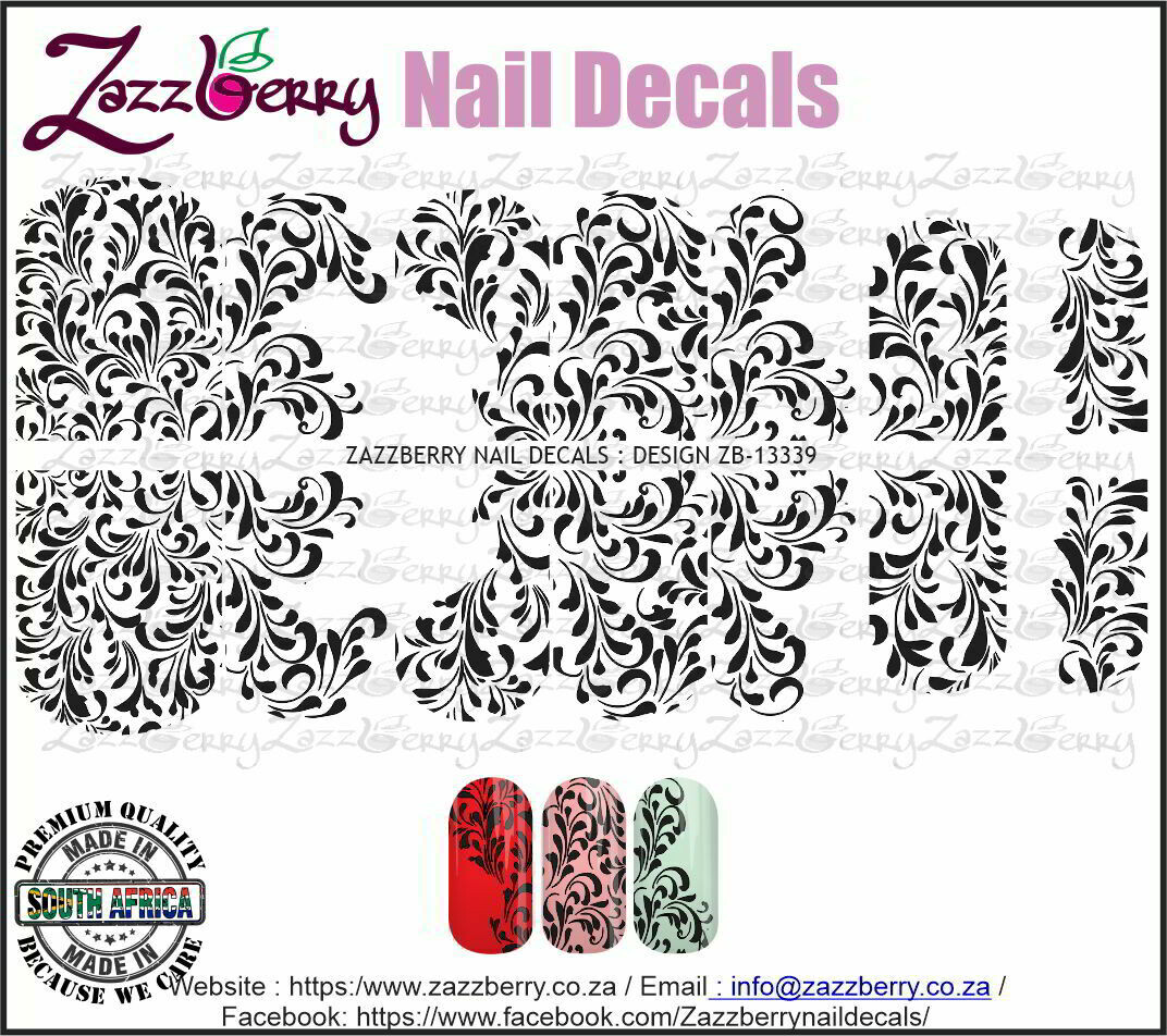 Swirly Lace (Black/White/Foil)