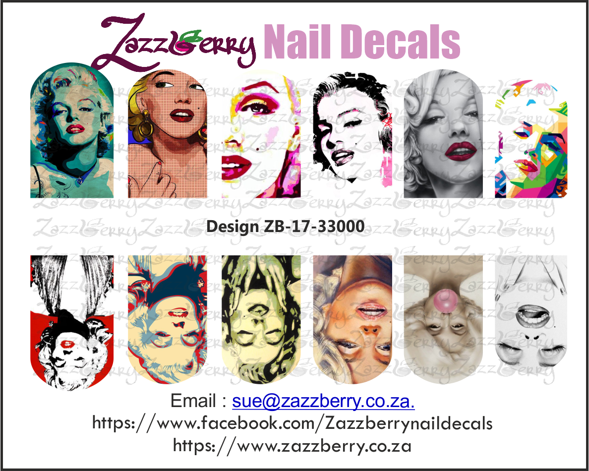 Marilyn Monroe Remix Nail Decals