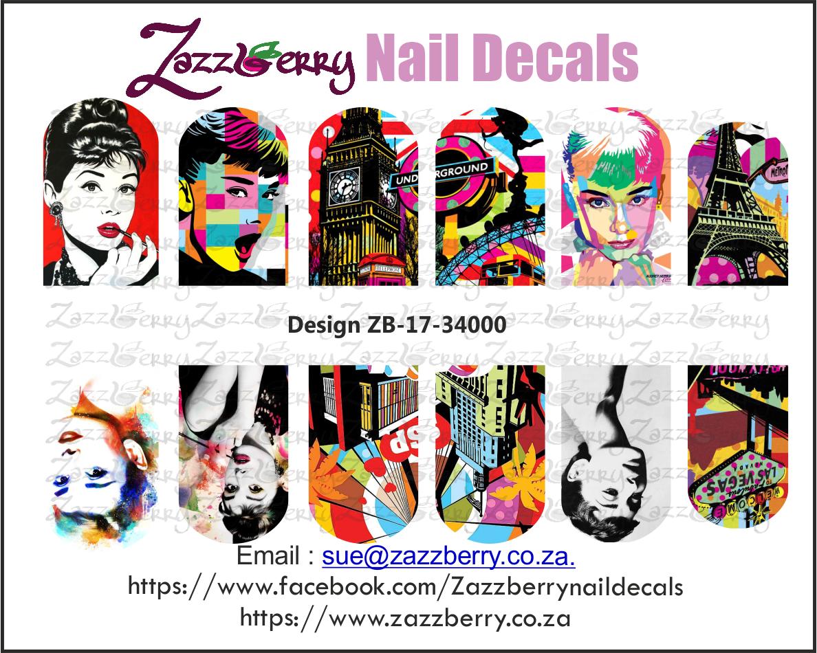 Audrey Hepburn Remix Nail Decals