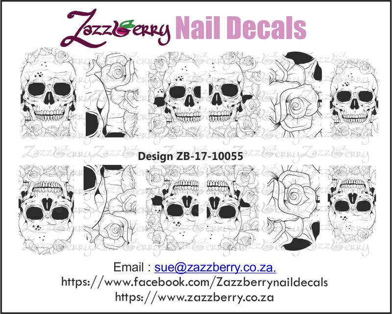 Skulls & Roses Nail Decals