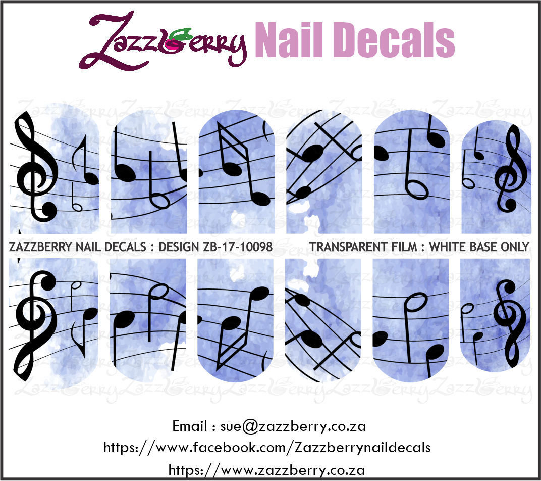 Music Notes : On Blue Water Color Background