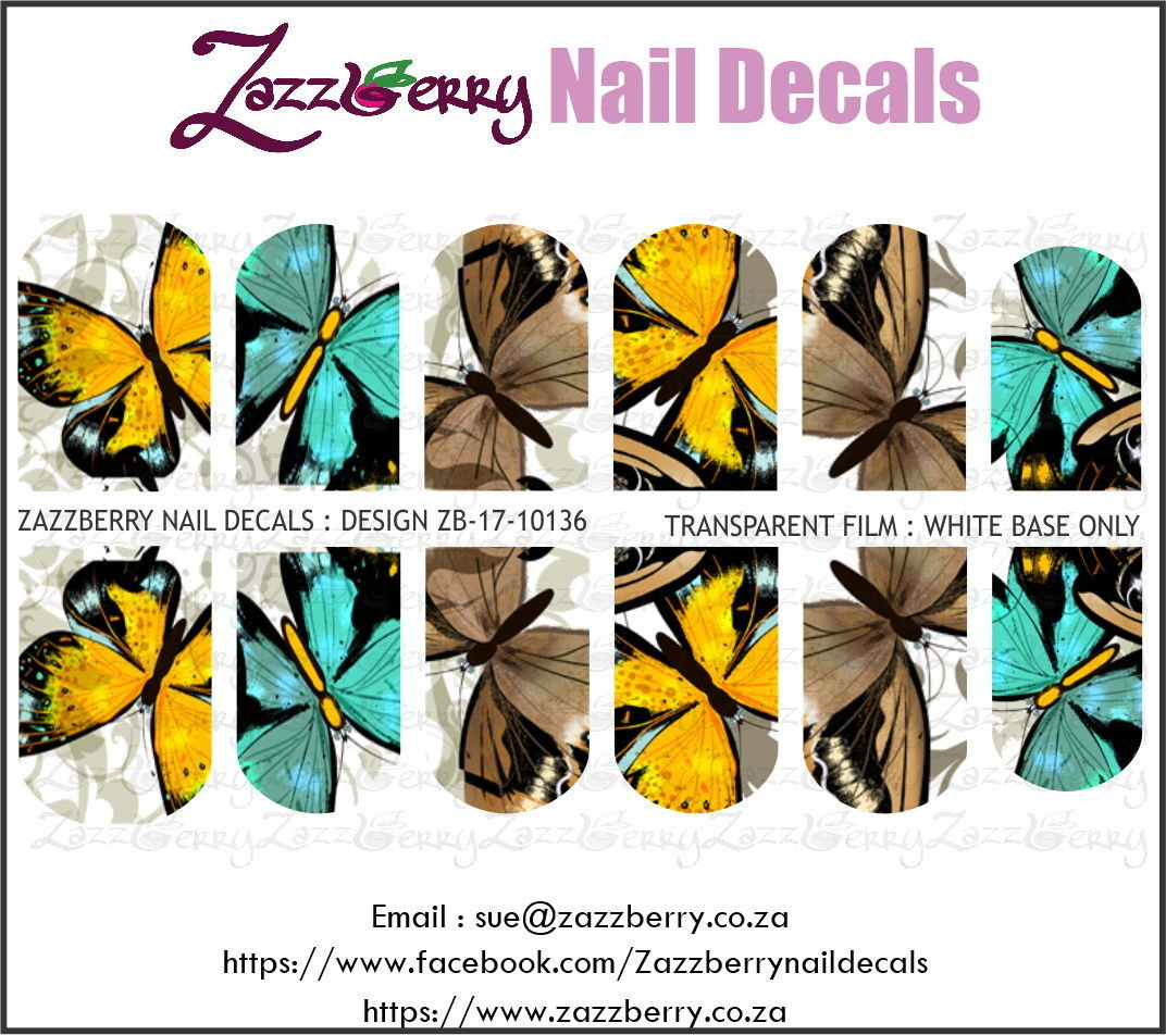 Yellow, Blue and Brown Butterflies