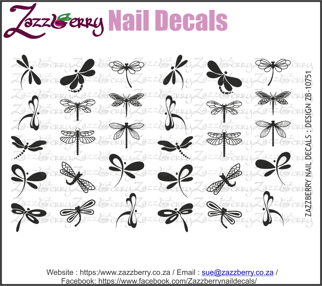 Dragonfly (Black/White/Foil)