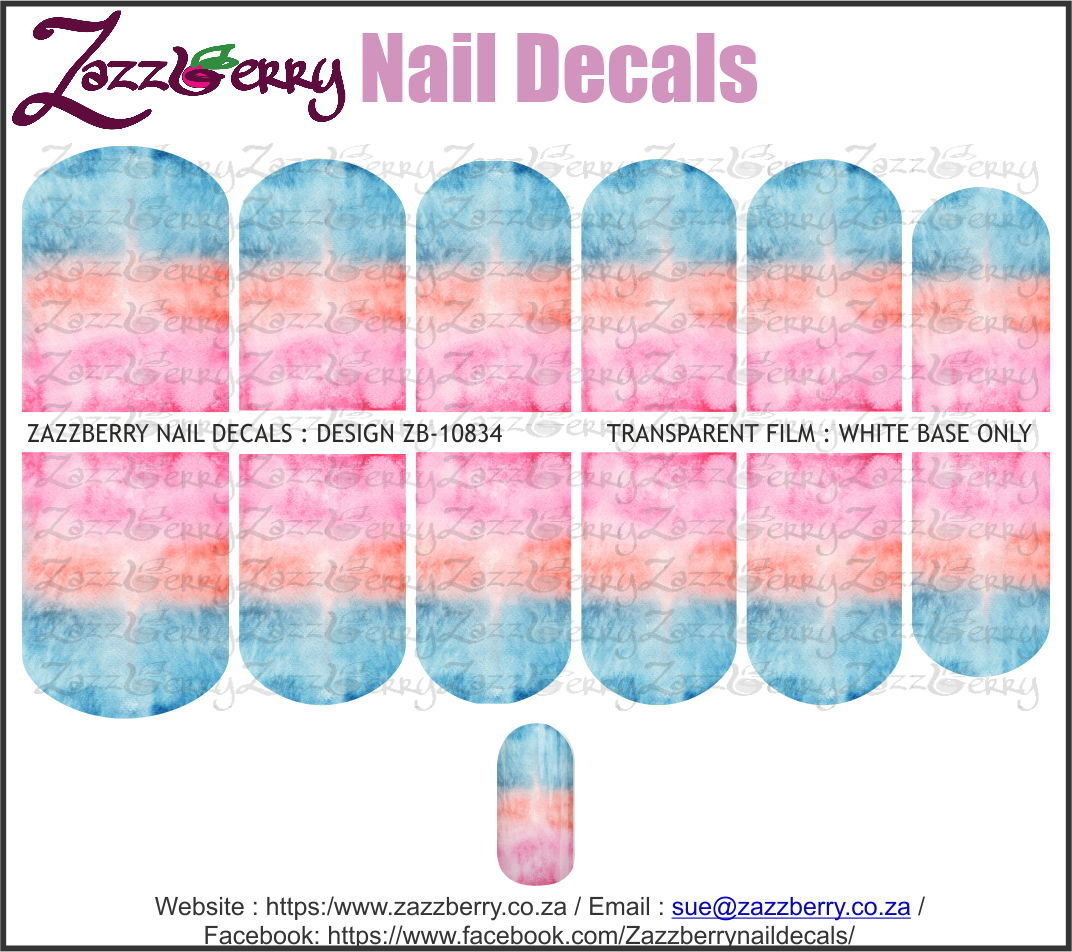 Blue to Pink Water Color Ombre