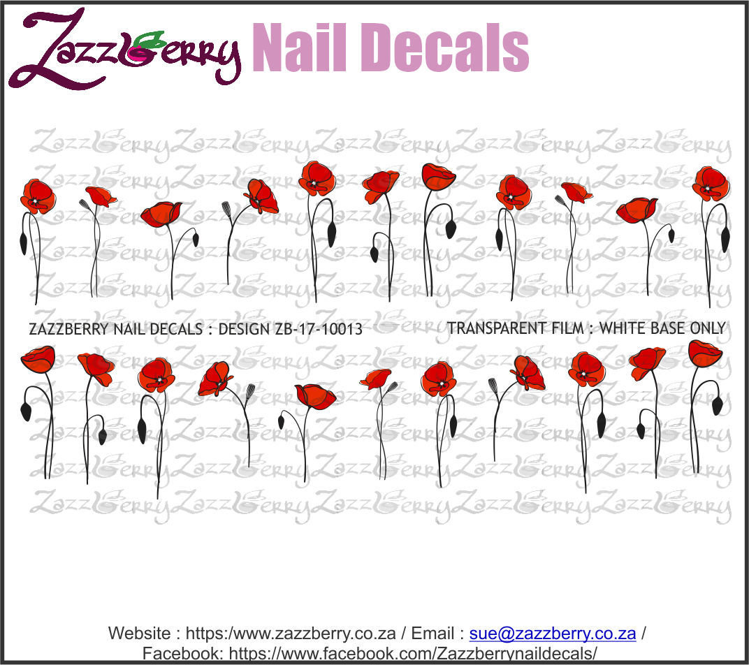 Poppy so Delicate Nail Decals