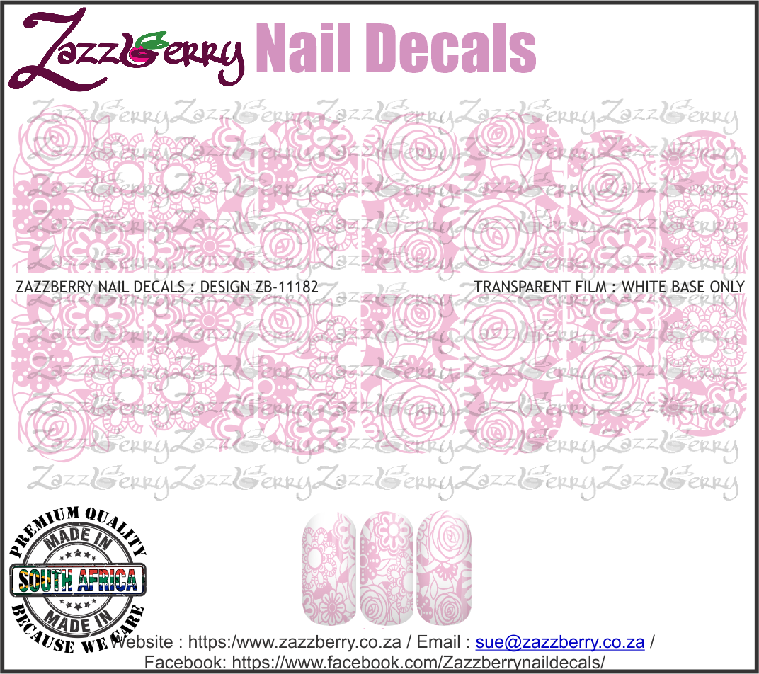 Pink Floral Lace