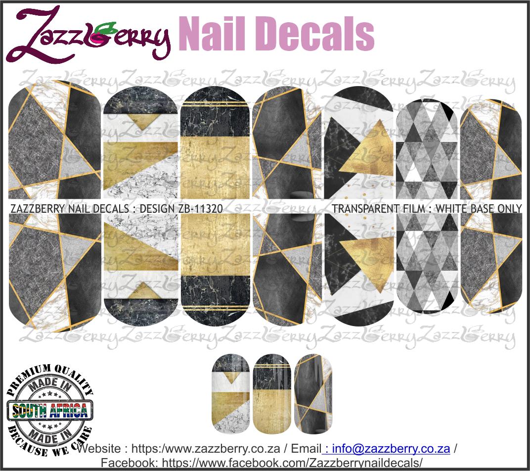 Geometric Black Marble Design