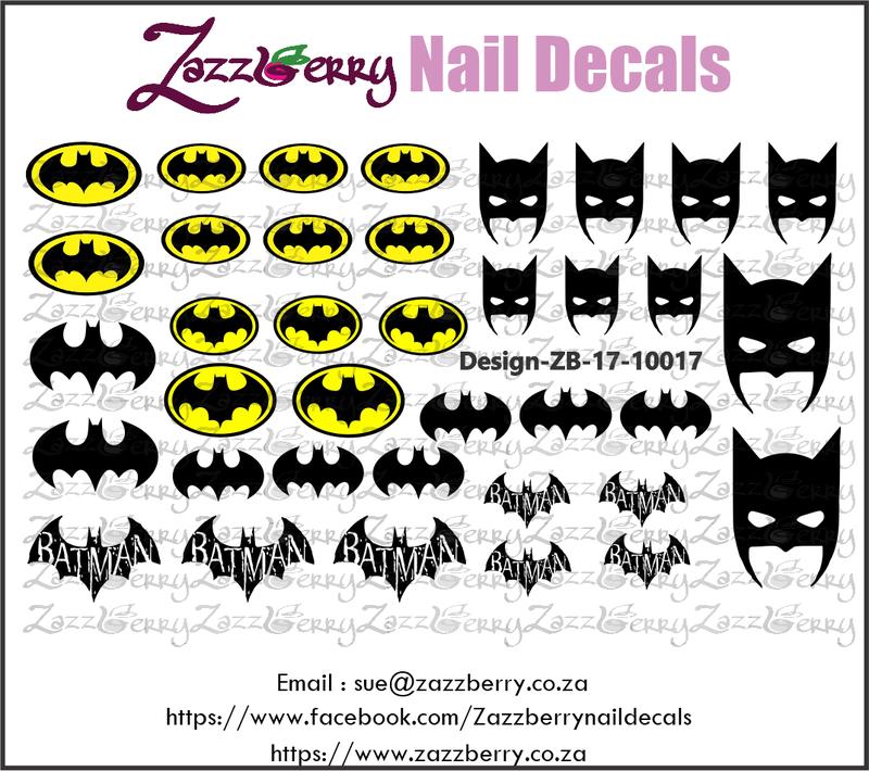 Batman Love Nail Decals