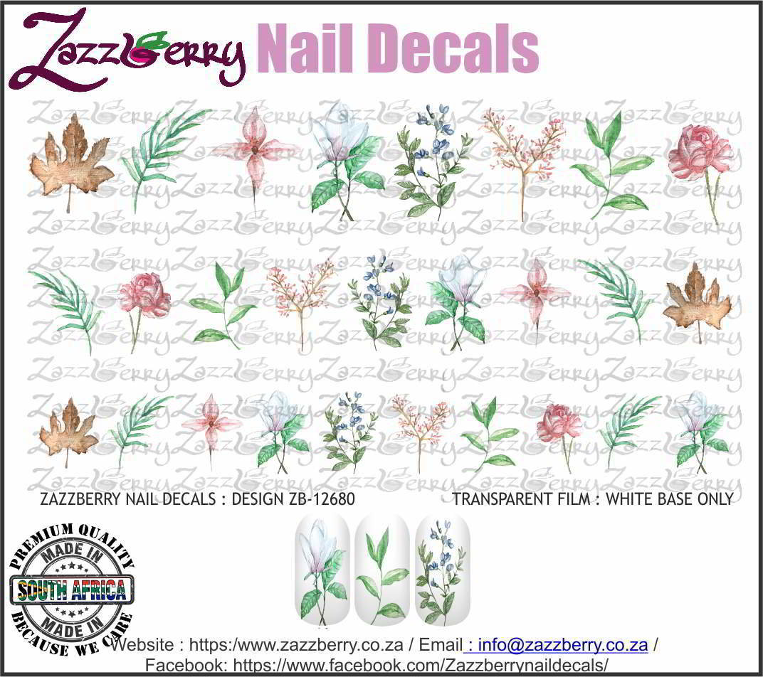 Water Color Floral Singles