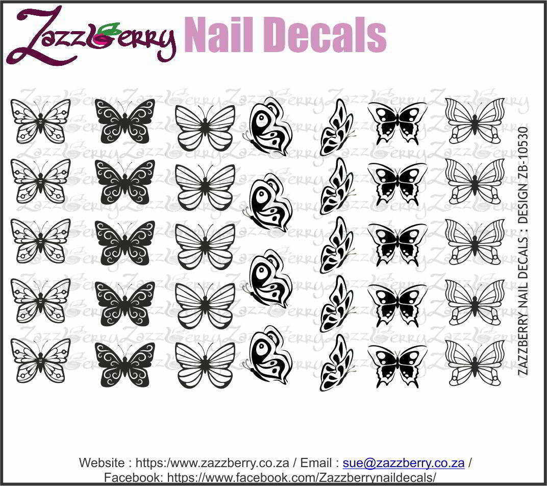 Butterflies II  (Black/White/Foil)