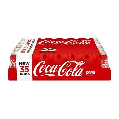 * Coca Cola Classic Cans 35-12 Ounces