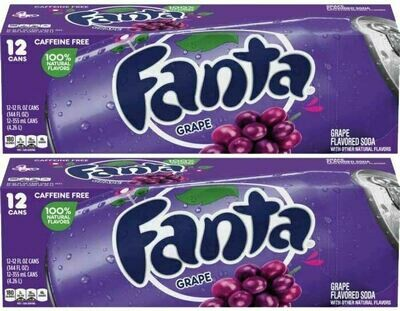 * Fanta Grape Soda 24x12 Ounces