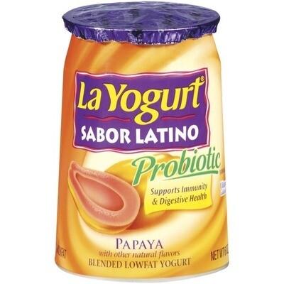 * La Yogurt Sabor Latino Papaya 6 Ounces