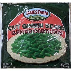 * Frozen James Farm Iqf Whole Green Beans 2 Pounds