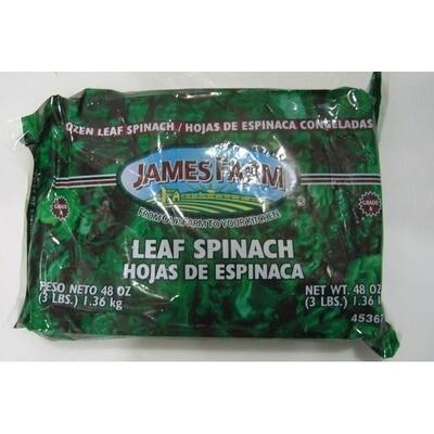 * Frozen James Farm Leaf Spinach 3 Pounds