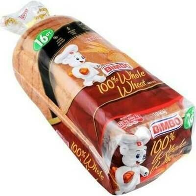 * Bimbo 100% Whole Wheat Bread 16 Ounces Loaf