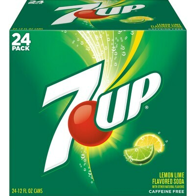 * 7-Up Club Pack Of 24-12 Ounces Cans