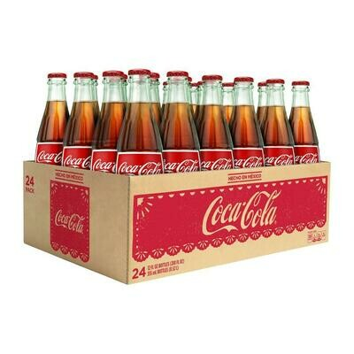 * Coca-Cola 24-8 Ounces Glass Bottles