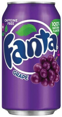 * Fanta Grape Soda 24-12 Ounces Cans