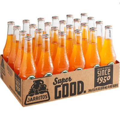 * Jarritos Mandarin Soda 24-12.5 Ounces Glass Bottles