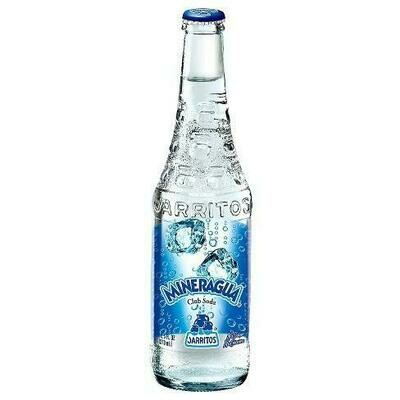 * Jarritos Mineragua (Club Soda) 24-12.5 Ounces Glass Bottles