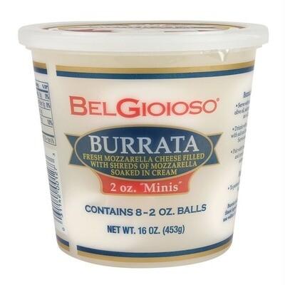 * Belgioioso Burrata Cheese Balls 16 Ounces
