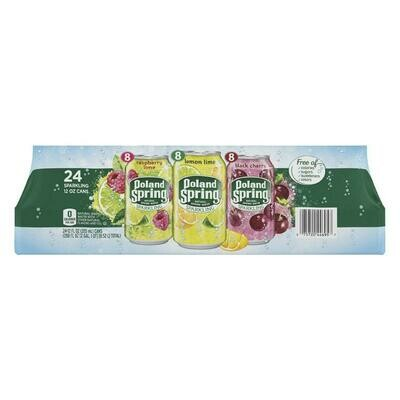 * Poland Spring Sparkling Spring Water Variety Pack 24-16.9 Ounces