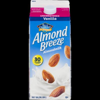 * Almond Breeze Unsweetened Vanilla Almond Milk 1-2 Gallon