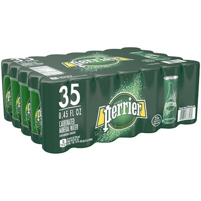 * Perrier Sparkling Mineral Water 35-8.45 Ounces Slim Cans