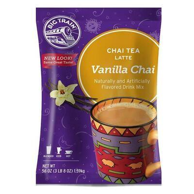 * Big Train Vanilla Chai Tea Latte Mix 3.5 Lb