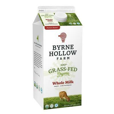 * Byrne Hollow Farm Organic Whole Milk 64 Ounces