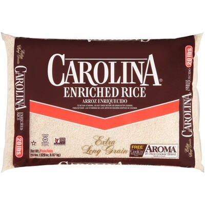 * Carolina Long Grain Rice 20 Pounds