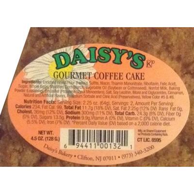 * Daisy's Bakery Individually Wrapped Coffee Cake 12-5 Ounces