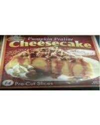 * Frozen Chef's Quality Sliced Pumpkin Praline Cheesecake 14 Slices