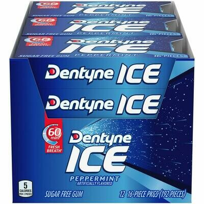 * Dentyne Ice Spearmint Gum 12-16 Pieces Packs
