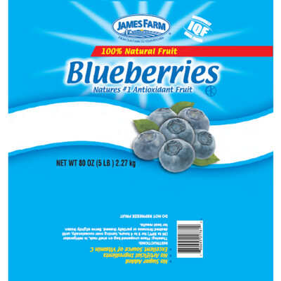 * Frozen James Farm Cultivated Blueberries 5 Pounds