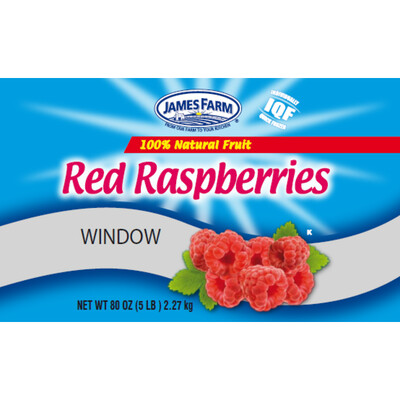 * Frozen James Farm Red Raspberries 5 Pounds