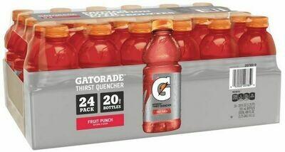 * Gatorade Fruit Punch- 24-20 Ounces Plastic Bottles