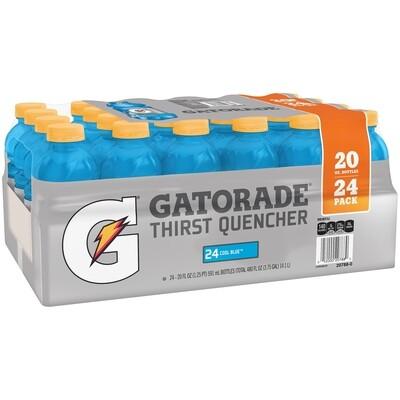 * Gatorade Cool Blue 24-20 Ounces Plastic Bottles