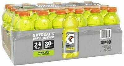* Gatorade Lemon Lime Flavor 24-20 Ounce Bottles