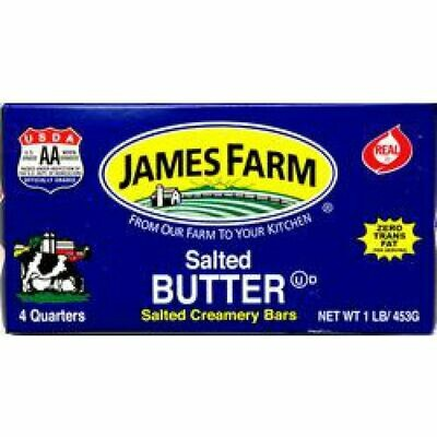 * James Farm Salted Solid Butter 1 Lb