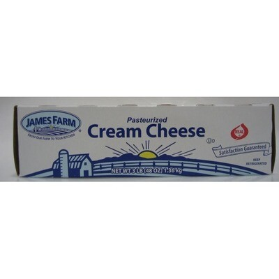 * James Farm Cream Cheese Loaf 3 Pounds