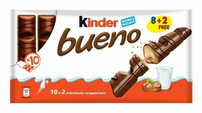 * Kinder Bueno Chocolate Bars 2 Pc 20 Count