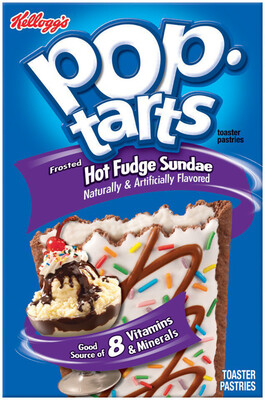 * Kellogg's Pop Tarts Hot Fudge Sundae Toaster Pastries 6-3.7 Ounces